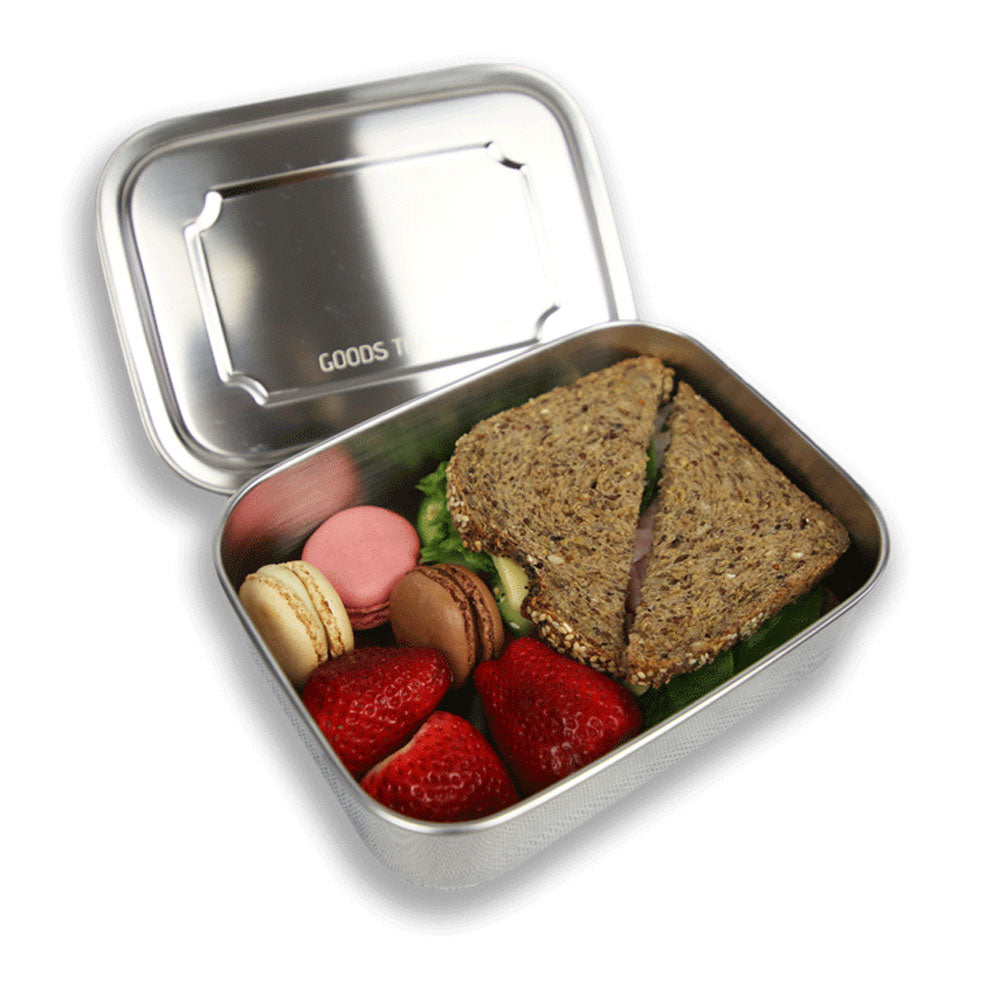 Stainless steel lunchbox - MEDIUM no compartments