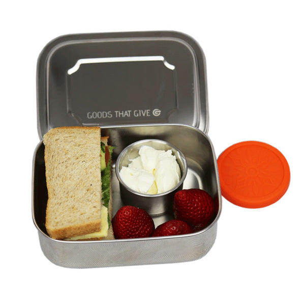 Stainless steel lunchbox - SMALL no compartments - Goods that Give