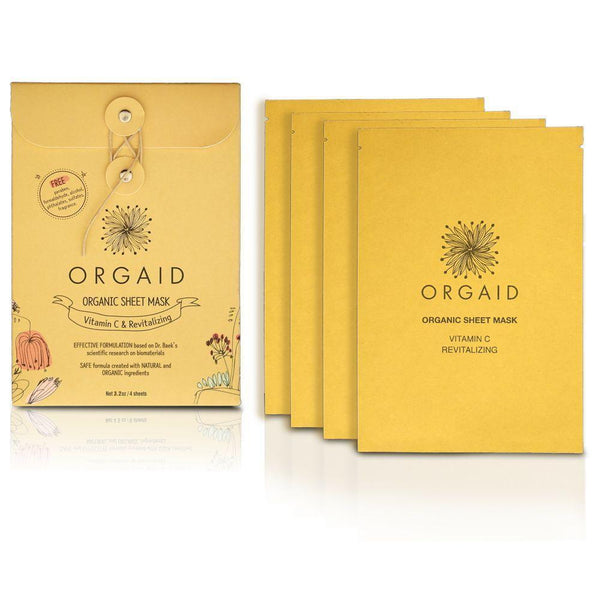 ORGAID Organic Sheet Mask Vitamin C & Revitalizing 4x24ml