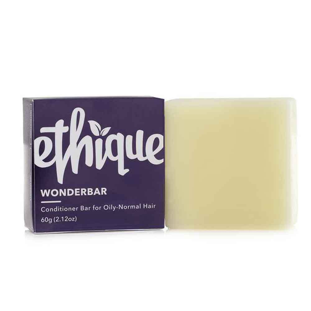 Ethique Conditioner Bar Wonderbar - Conditioner for Oily to Normal Hair (60g) - Goods that Give