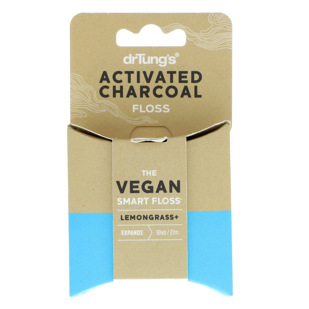 Activated Charcoal Vegan Dental Floss (drTung's, 27m)