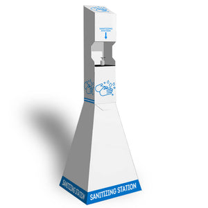 Washable Plastic Quick Setup PopUp Hand Sanitizer Station<br>(Blue Text)