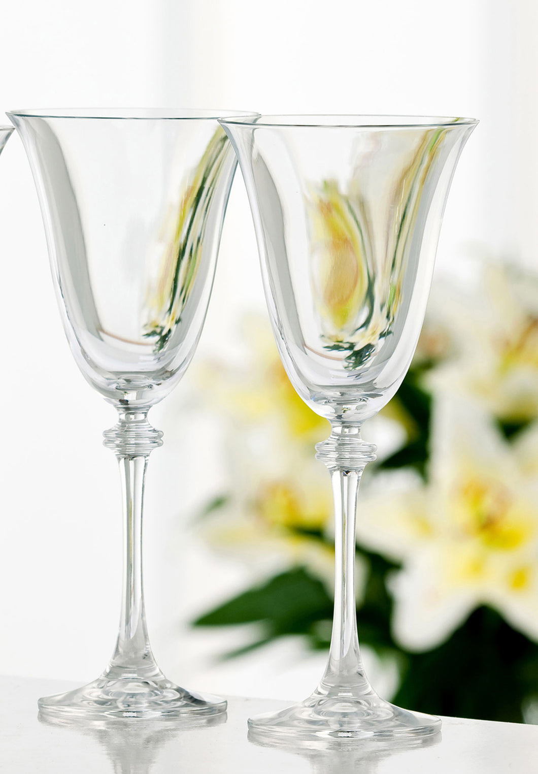 Galway Crystal - 2 Classic Goblet Liberty Glasses