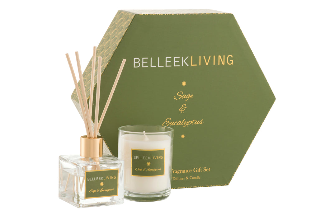 Belleek - Home Fragrance Sage and Eucalyptus Gift Set