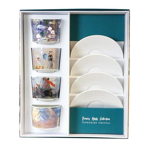 Tipperary - Artists Collection Fine Bone China Cappuccino Set [Monet]