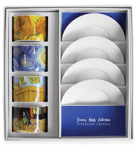 Tipperary - Famous Artists Set of 4 Cappuccino Cups and Saucers Vincent [Van Gogh]