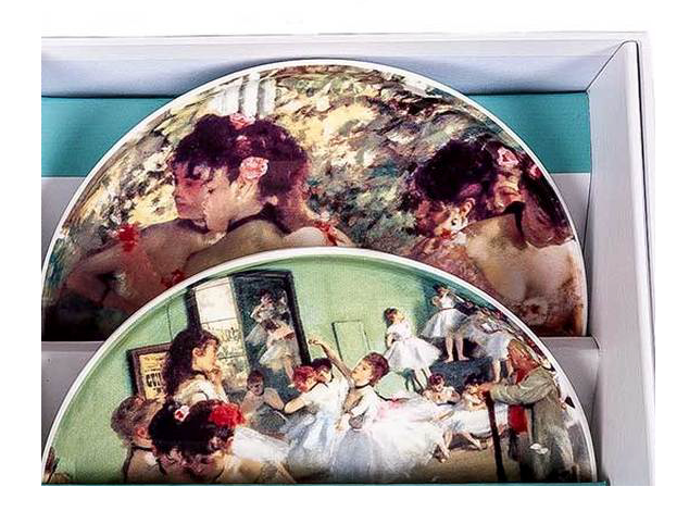 Tipperary - Famous Artists Set of 4 Biscuit Plates [Edgar Degas]