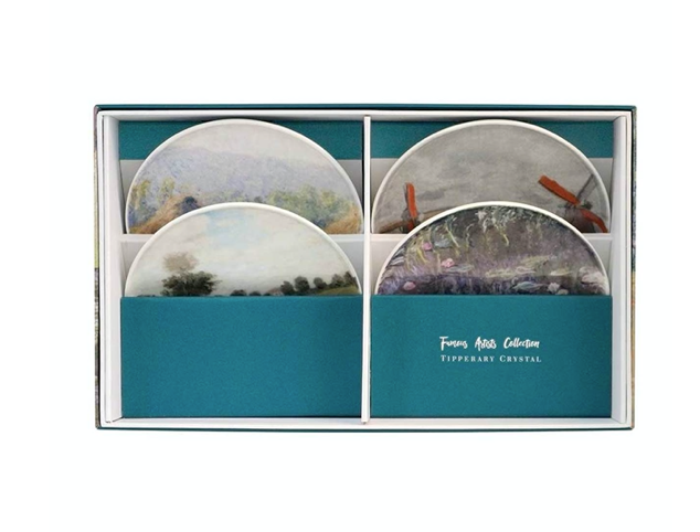 Tipperary - Famous Artists Set of 4 Biscuit Plates [Claude Monet]