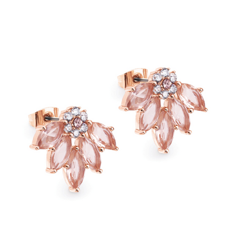 Maureen O'Hara - Rose Gold Fan Earrings