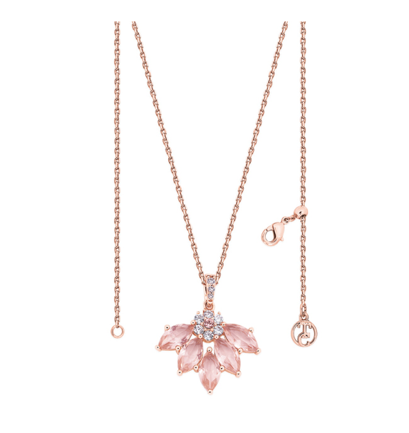 Maureen O'Hara - Rose Gold Fan Pendant