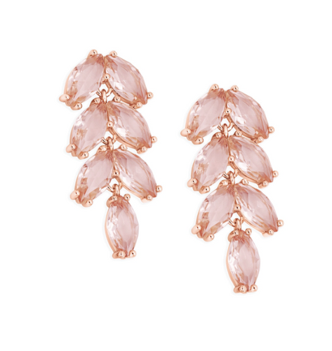 Maureen O'Hara - Rose Gold Vintage Leaf Earrings
