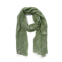 Load image into Gallery viewer, Tipperary - Sage Green Star Scarf