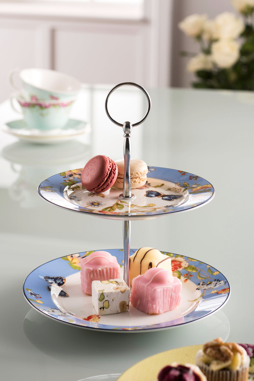 Anysley - Cottage Collection 2 Tier Cake Plate