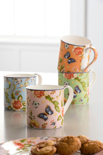 Anysley - Cottage Garden Collection 4 Windsor Mugs
