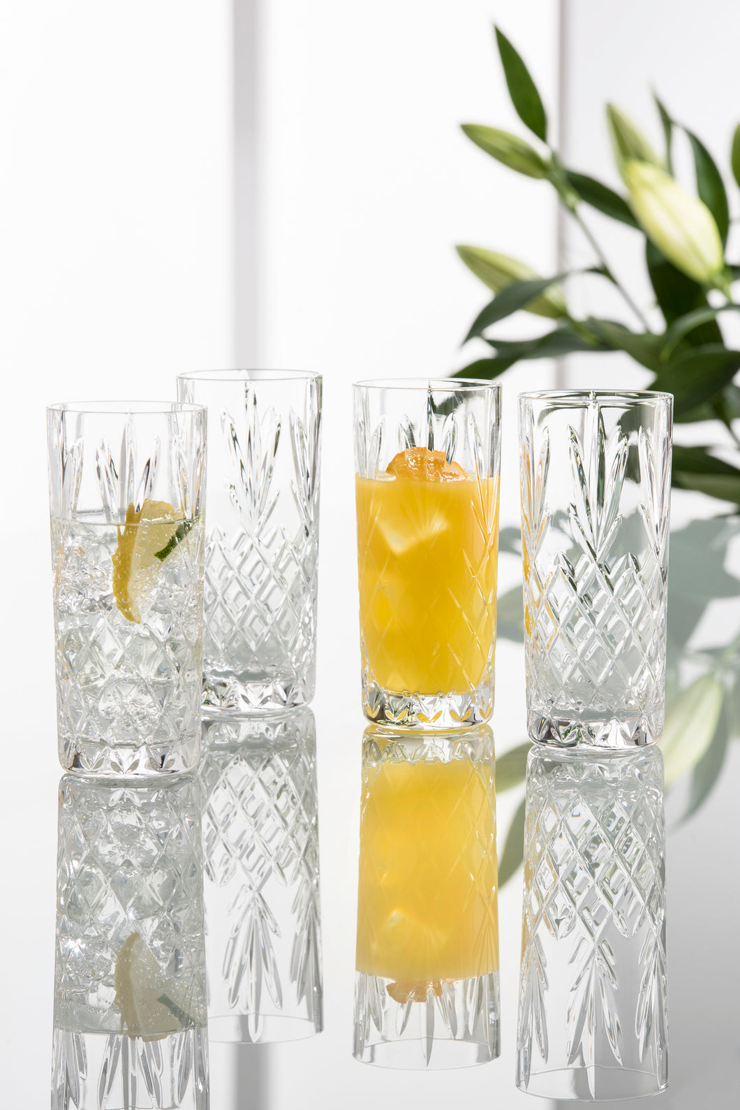 Galway Crystal - Set of 4 Renmore Hiball Glasses