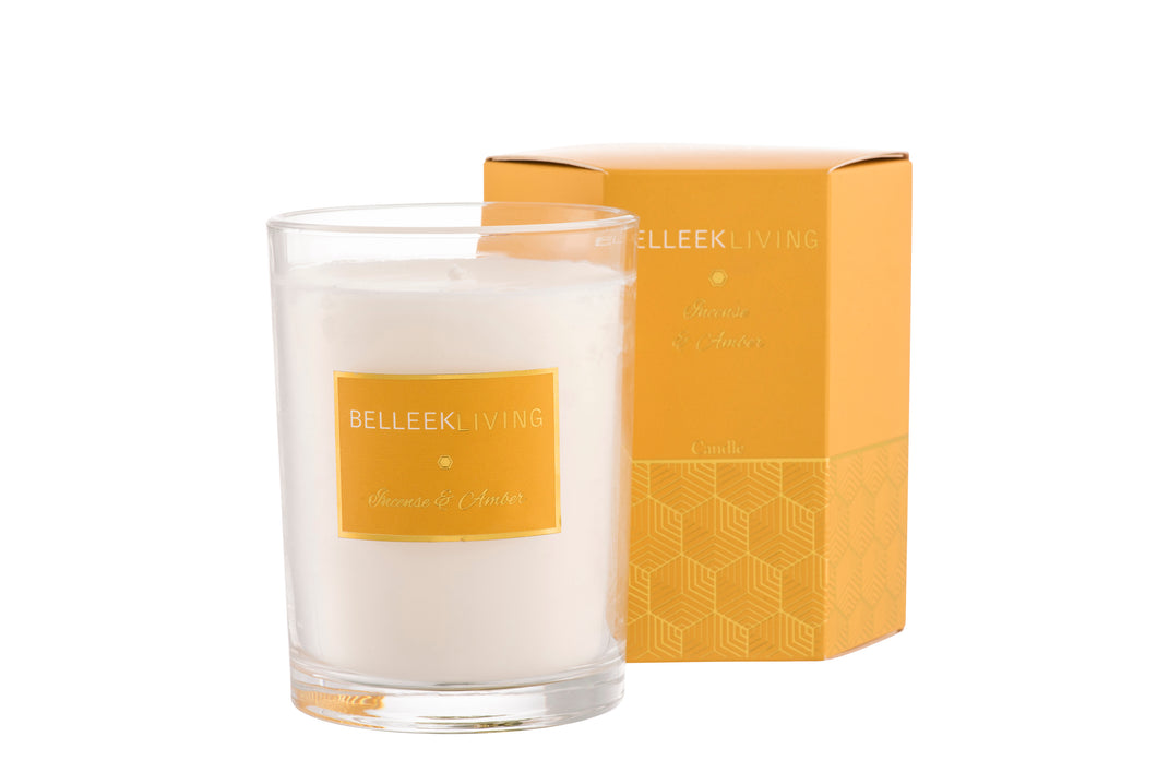 Belleek - Home Fragrance Incense & Amber Candle