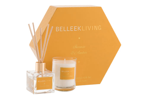 Belleek - Home Fragrance Incense & Amber Gift Set
