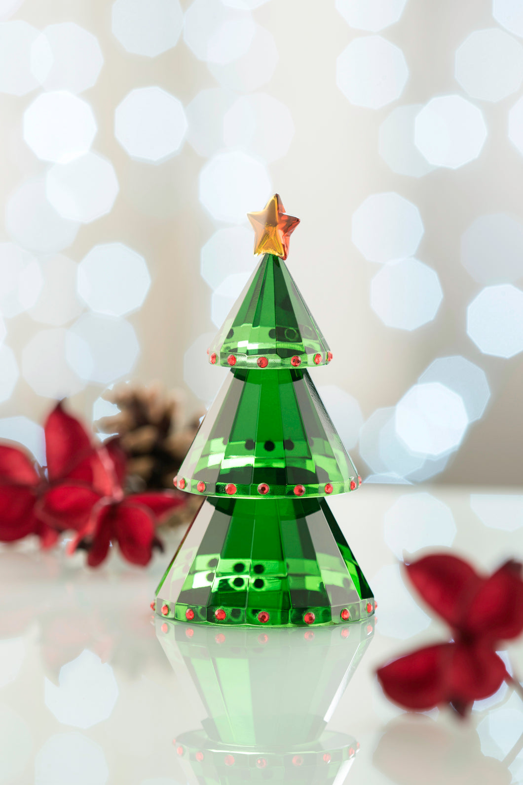 Galway Crystal - Green Christmas Tree