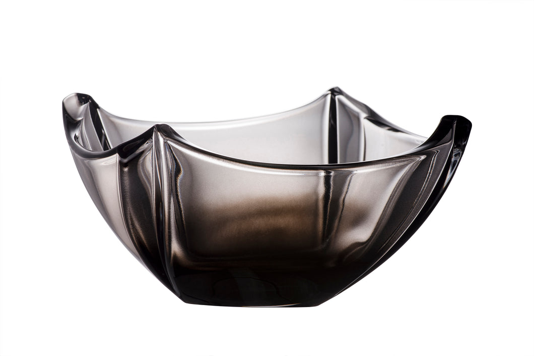 "Enjoy the elegant simplicity and beautiful shape of the Galway Crystal Dune 10"" Onyx Bowl.  A contemporary design made with an age-old skill.  The smoky Onyx colour adds to the appeal of this up to the minute item. Measures 26cms W 15 cms H"