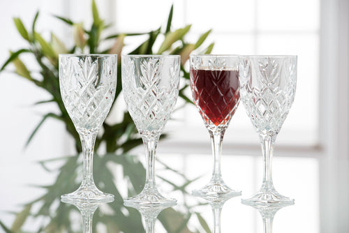 Galway Crystal - Set of 4 Classic Shape Wine Goblets