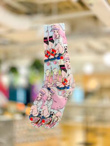 Pastel Jill Lamm Room Graphic Socks