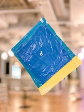 Load image into Gallery viewer, Blue & Yellow Travel Compression Bag—the Lamm Petako