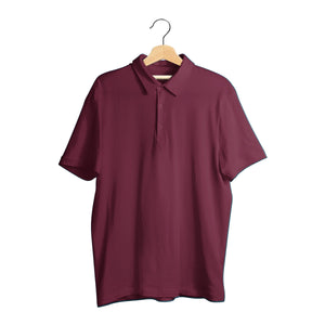 Maroon Polo Super Combed Cotton Tee