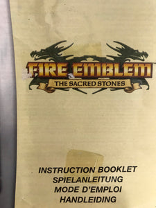fire emblem the sacred stones EUR nintendo Game boy advance avec notice