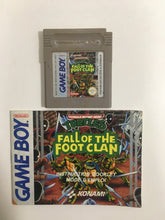 Charger l'image dans la galerie, turtles fall of the foot clan Nintendo Game boy FAH avec notice