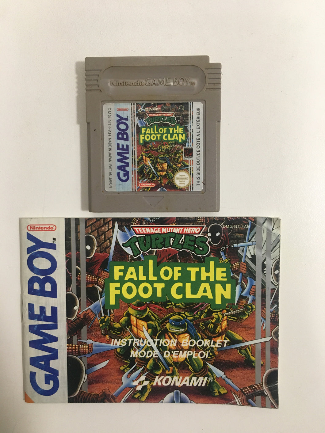 turtles fall of the foot clan Nintendo Game boy FAH avec notice