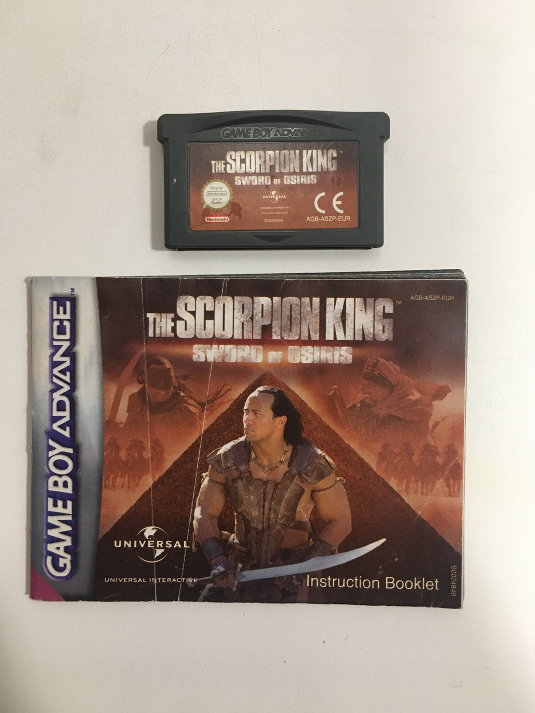 the scorpion king sword of osiris nintendo Game boy advance EUR avec notice