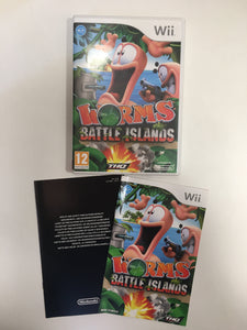 Worms battle island Nintendo wii complet