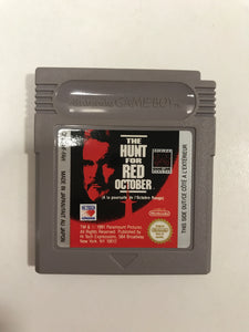The hunt for red october FAH Nintendo Game boy avec notice