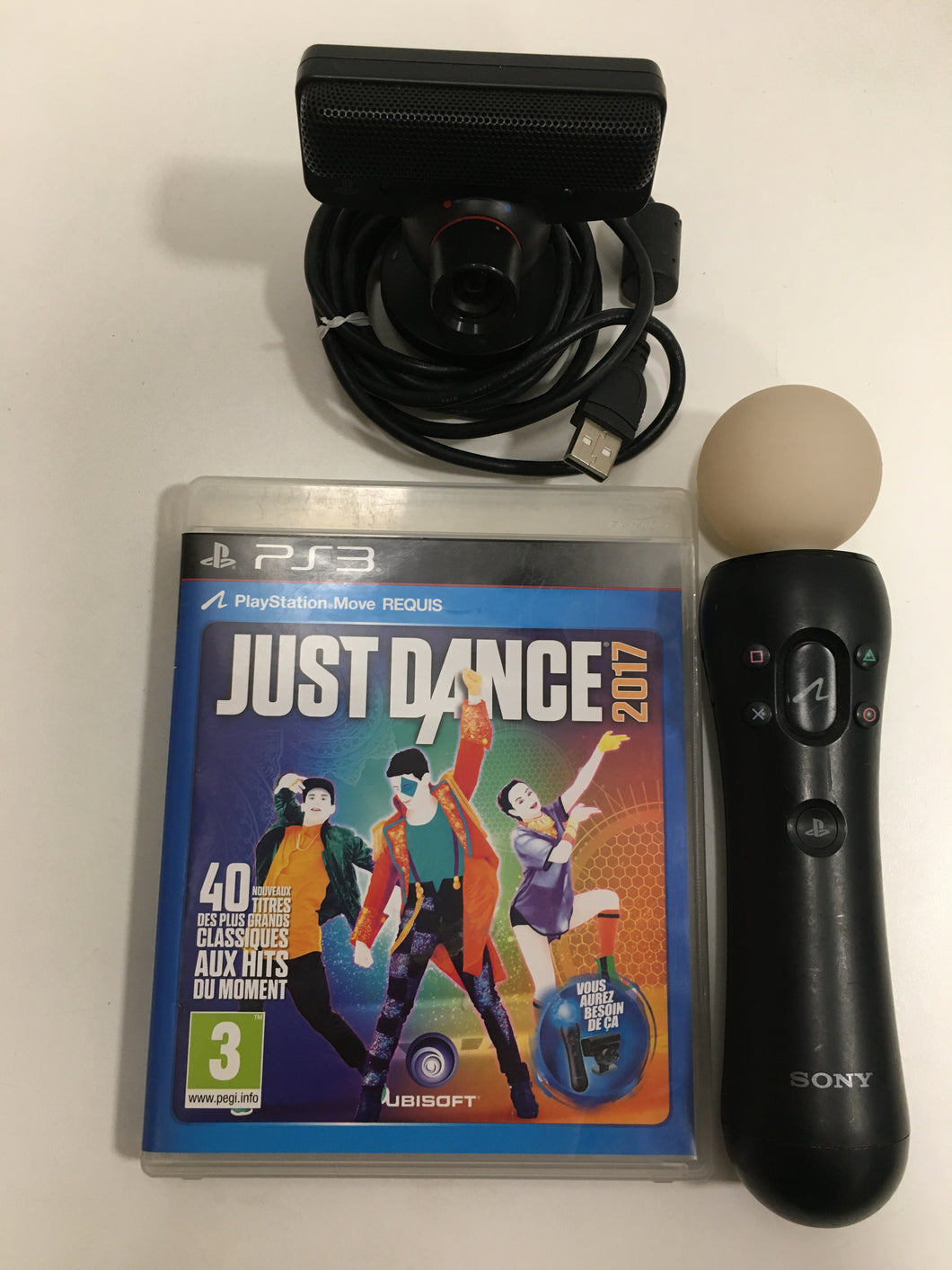 Sony ps move + camera eye PS3 + just dance 2017