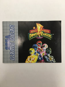 Power rangers mighty morphin sega Game gear avec notice