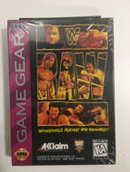 WWF raw sega Game gear neuf sous blister