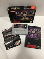 Mortal kombat 3 ultimate super Nintendo boîte notice