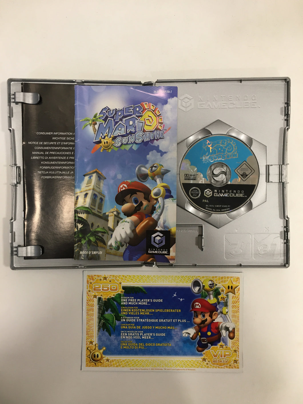 super mario sunshine gamecube PAL complet