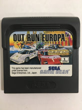 Charger l'image dans la galerie, out run europa sega Game gear avec notice