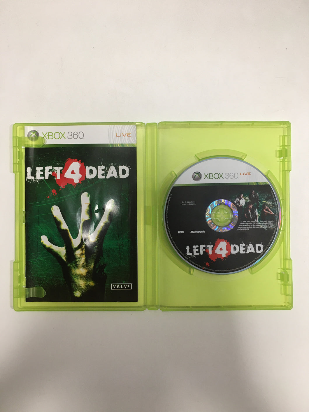 Left for dead Xbox 360 PAL avec notice