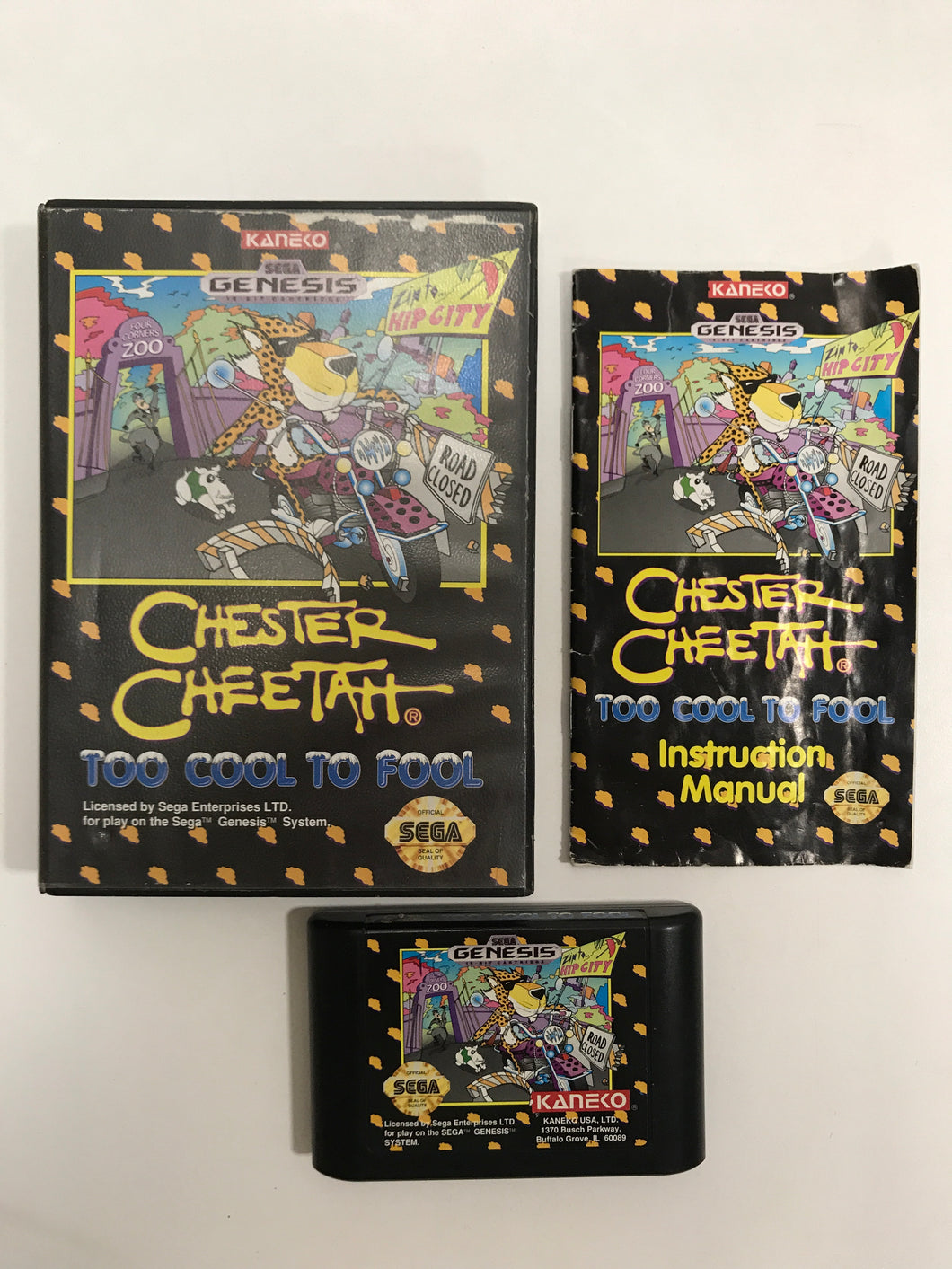 Chester cheetah too cool to fool sega megadrive avec notice