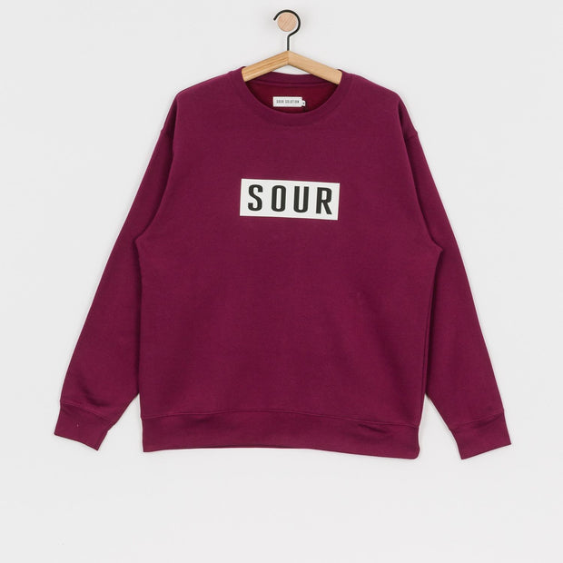 Sour Solution Patch Crew Neck (Burgundy)