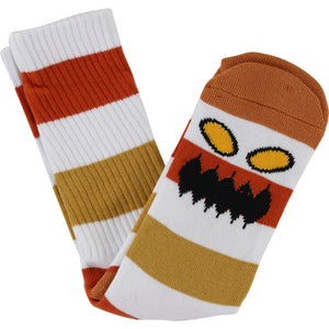Toy Machine Monster Big Stripe Crew Sock (Brown)
