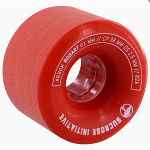 Arbor Bogart Wheels Red 82A (61MM)