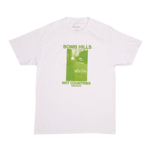 GX1000 Bomb Hills Not Countries T Shirt (White)