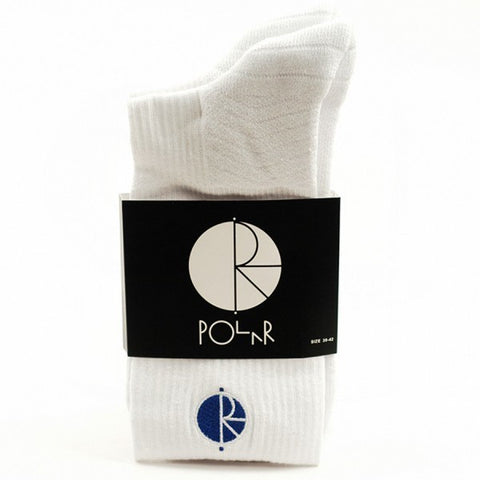 Polar Fill Logo Technology Sock (White/Blue)