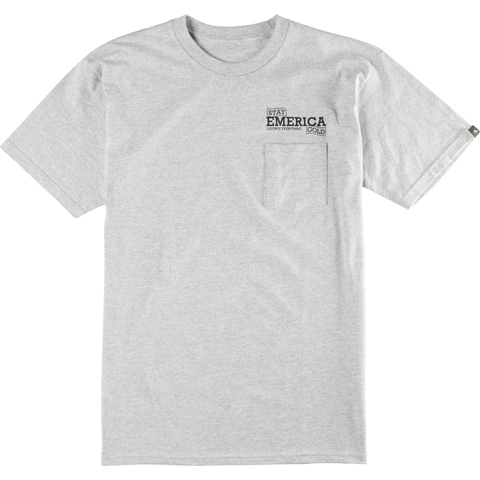 Emerica Destroy Everything Sign Tee (Grey/Heather)