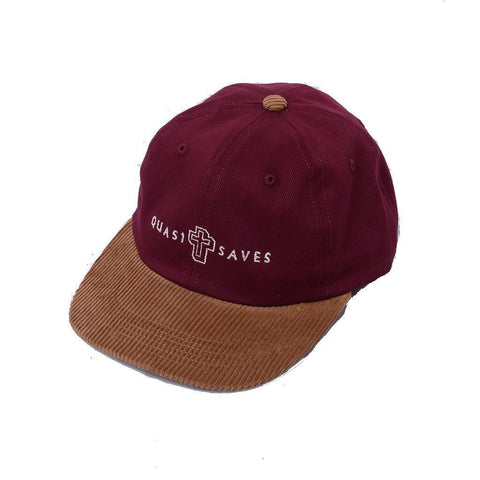 Quasi Believe 6 Panel Hat (Burgundy)