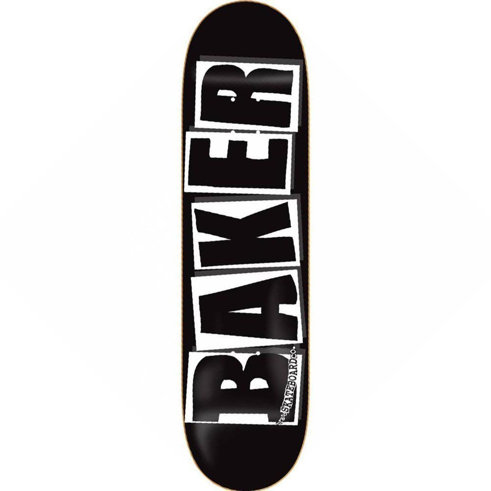 "Baker Brand Logo Deck Black/White (8.25"")"