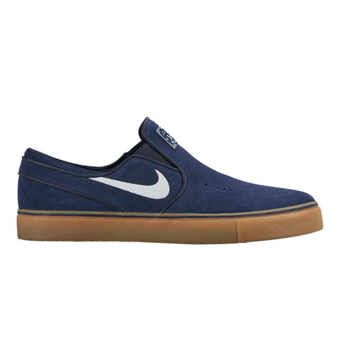 Nike SB Janoski Slip On (Obsidian/White-Gum Light Brown)